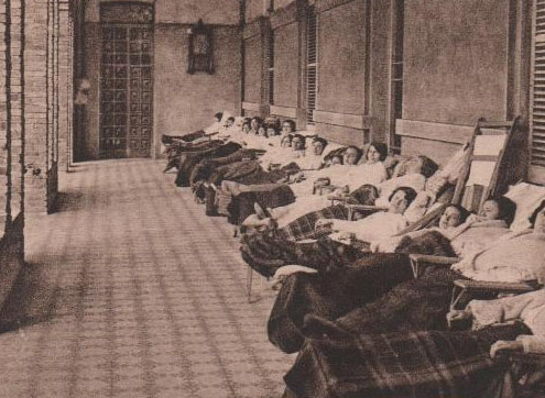 Sanatorio Marítimo de San José Dr. Lluís Puig Verdié paciente cada vez menos paciente